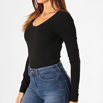 Noisy May - Body Tee Shirt Manches Longues Femme Kerry Noir