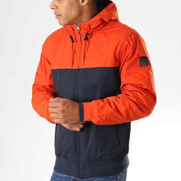 Element - Blouson Dulcey 2 Tones Orange Bleu Marine