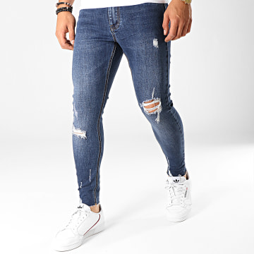 Frilivin - Jean Super Skinny Fit VJ215 Bleu Denim