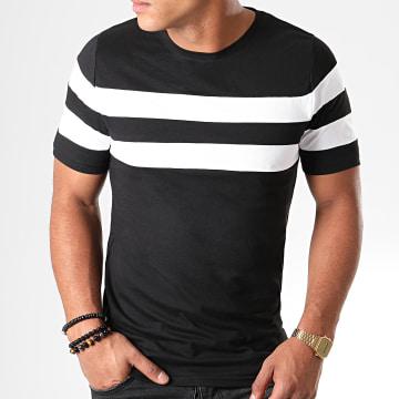 Tee Shirt Avec Bandes 832 Noir Blanc