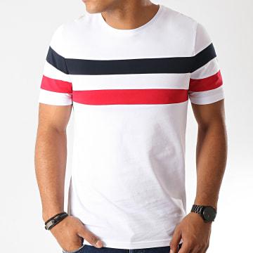 Tee Shirt Avec Bandes 833 Bleu Rouge Blanc