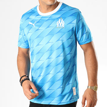 Puma - Maillot De Foot OM Away Replica 755674 Bleu Clair