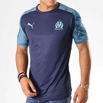 Tee Shirt De Sport OM Training Jersey 755828 Bleu Marine Bleu Clair