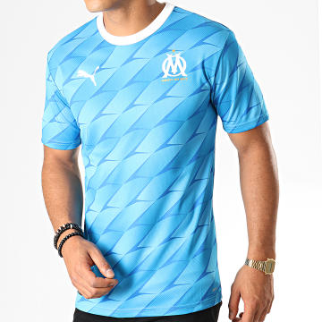Maillot De Foot OM Away Authentic 755659 Bleu Clair Blanc