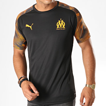 Tee Shirt De Sport OM Training Jersey 755828 Noir Orange
