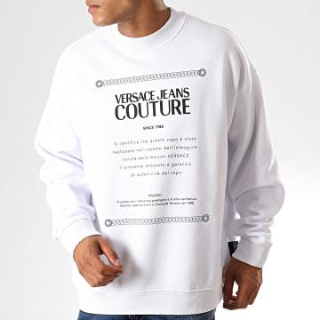 Versace Jeans Couture - Sweat Crewneck Renaissance Print 7 B7GUA7F7 Blanc Noir