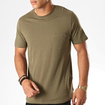 Jack And Jones - Tee Shirt Poche Pocket Vert Kaki
