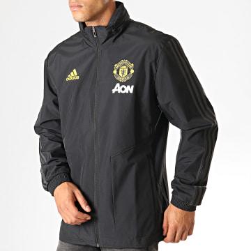 Veste Zippée Capuche A Bandes Manchester United AW EB6515 Noir