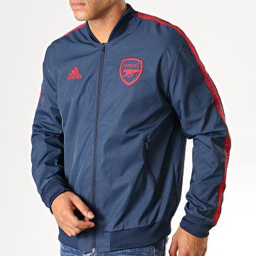 Adidas Performance - Veste De Sport A Bandes Arsenal Anthem EH5610 Bleu Marine