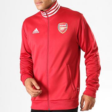 Adidas Performance - Veste De Sport Arsenal 3 Stripes EH5623 Rouge