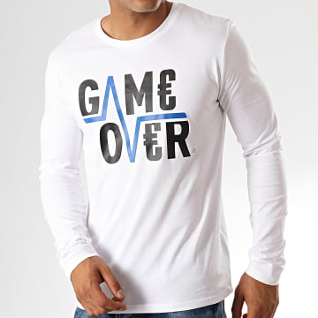 Game Over - Tee Shirt Manches Longues Flash Blanc