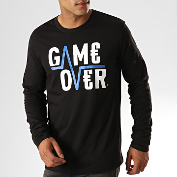 Game Over - Tee Shirt Manches Longues Flash Noir