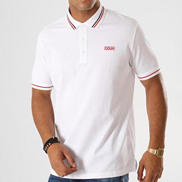 HUGO by Hugo Boss - Polo Manches Courtes Reverse Logo Daruso194 50414224 Blanc Rouge Noir
