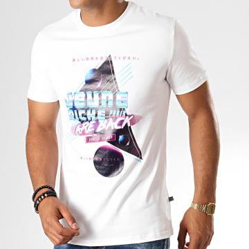 Tee Shirt Back Blanc