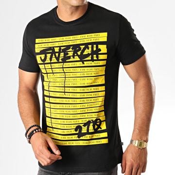 Jeune Riche - Tee Shirt Do Not Cross Noir Jaune