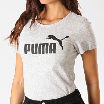 Puma - Tee Shirt Femme Essentials 851787 Gris Chiné