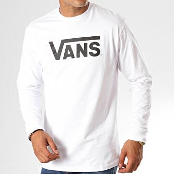 Vans - Tee Shirt Manches Longues Classic VN000K6HYB2 Blanc Noir