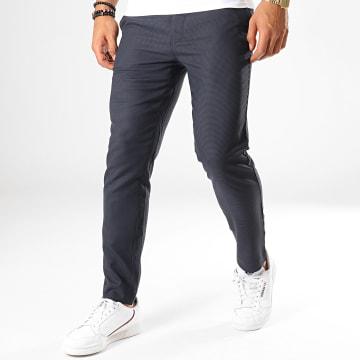 Pantalon Carreaux Slim Pomacaire2 Bleu Marine