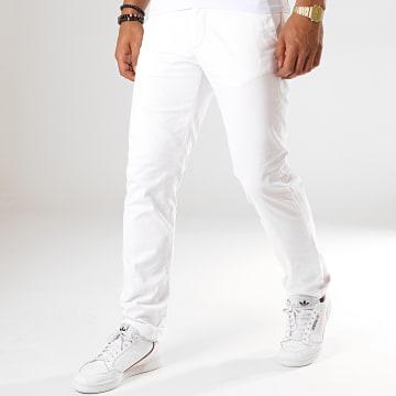 Celio - Pantalon Chino Pobelt Blanc