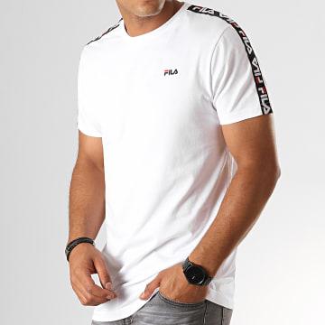 Tee Shirt A Bandes Vainamo 687217 Blanc Noir Rouge