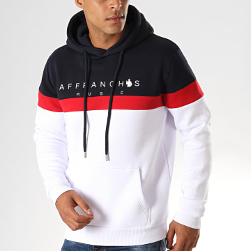 Fianso - Sweat Capuche Affranchis Music Tricolore Bleu Marine Blanc Rouge