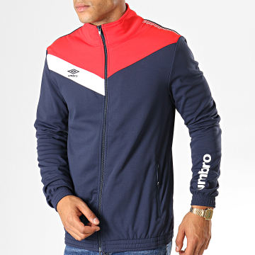 Umbro - Veste Zippée Club Unlined 510500-60 Bleu Marine Rouge Blanc