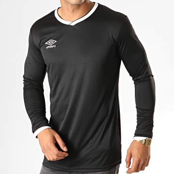 Umbro - Tee Shirt De Sport Manches Longues Cup Jersey 570260-60 Noir Blanc