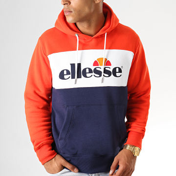 Sweat Capuche 1032N Gustave Orange Blanc Bleu Marine