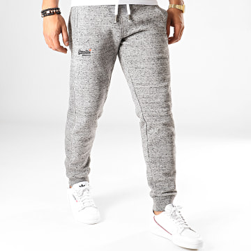 Superdry - Pantalon Jogging Orange Label M70001NS Gris Chiné