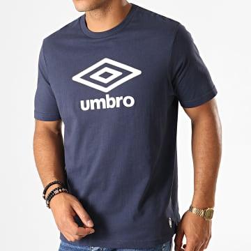 Umbro - Tee Shirt 729280-60 Bleu Marine Blanc