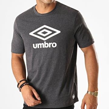 Umbro - Tee Shirt 729282-60 Gris Anthracite Chiné Blanc