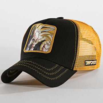 Casquette Trucker Gotenks Noir Jaune