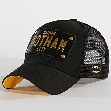 Capslab - Casquette Trucker Plaque Gotham Noir
