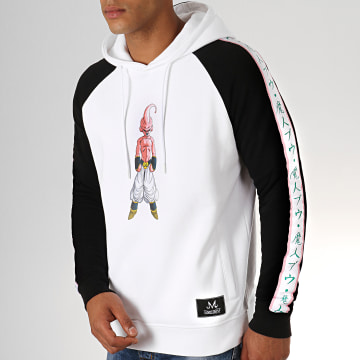 Dragon Ball Z - Sweat Capuche A Bandes Buu Bicolore Blanc Noir