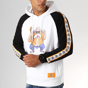 Dragon Ball Z - Sweat Capuche A Bandes Kame Blanc Noir