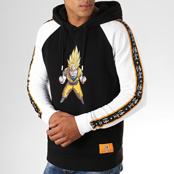 Dragon Ball Z - Sweat Capuche A Bandes Goku Noir Blanc