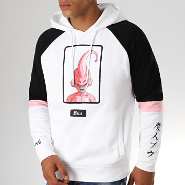 Dragon Ball Z - Sweat Capuche Brodé Buu Blanc Noir
