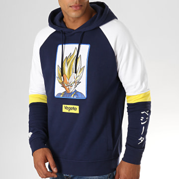 Dragon Ball Z - Sweat Capuche Brodé Vegeta Bleu Marine Blanc
