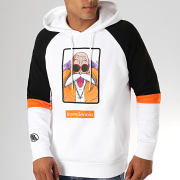 Dragon Ball Z - Sweat Capuche Brodé Kame Blanc Noir
