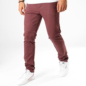 Pantalon Chino Slim Marco Bowie Bordeaux