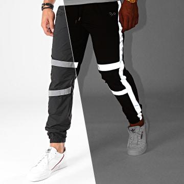 Project X - Pantalon Jogging Réfléchissant Avec Bandes 1940046 Noir Gris