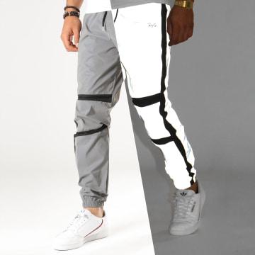 Project X - Pantalon Jogging Réfléchissant Avec Bandes 1940046 Gris Métallisé Noir