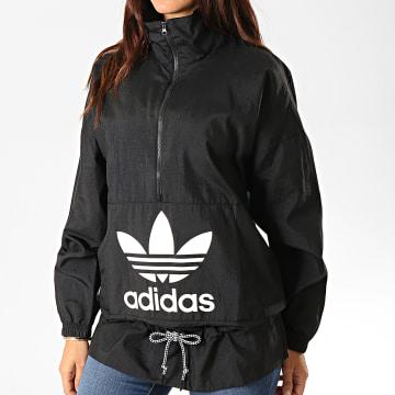 Adidas Originals - Coupe-Vent Femme ED7595 Noir Blanc