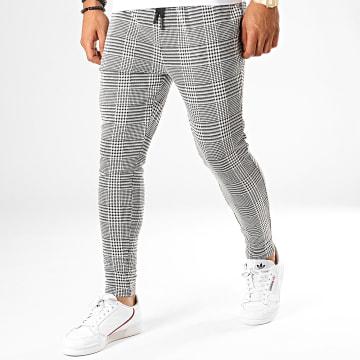 John H - Pantalon Carreaux K1 Noir Blanc