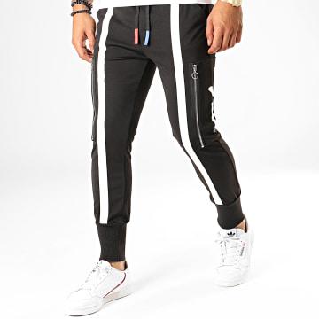Pantalon Jogging A Bandes P2823 Noir