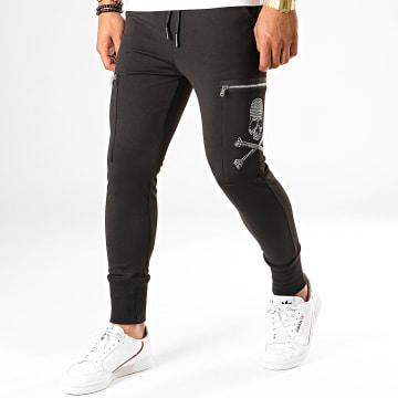 Pantalon Jogging A Strass P2825 Noir Argenté