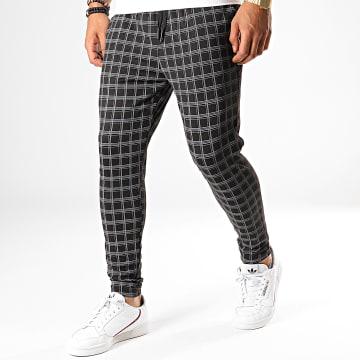 Pantalon A Carreaux K11 Noir Gris