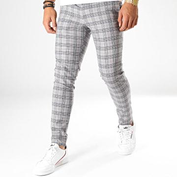 Pantalon Carreaux 28043 Gris Bleu Rouge Beige