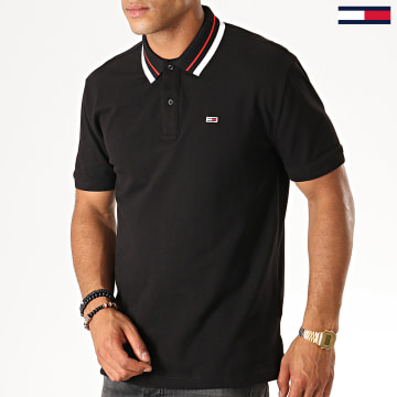 Polo Manches Courtes Classics Tipped 7195 Noir
