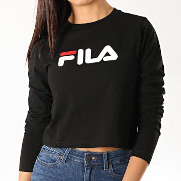 Fila - Tee Shirt Femme Crop Manches Longues Marceline 687213 Noir